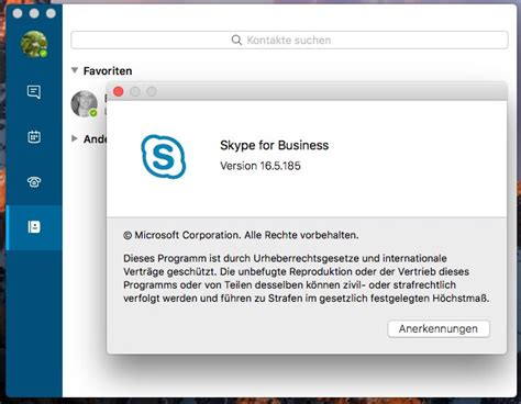 Skype for Business on Mac Screensharing available