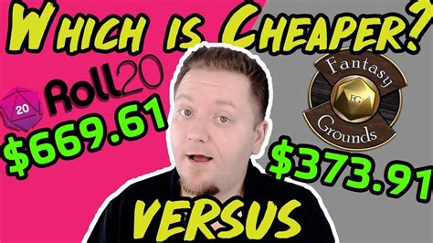 Roll20 Vs Fantasy Grounds | Which is REALLY the Cheapest