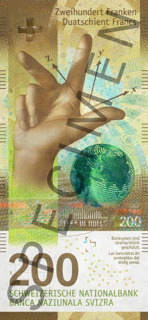 New range of swiss banknotes - 10, 20, 50, 100, 200 and