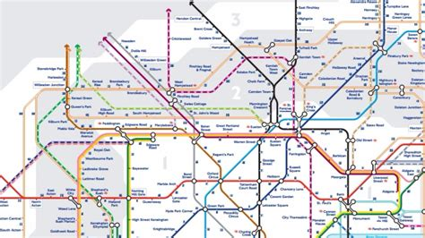 London's Walking Tube map extended to Zone 3   London