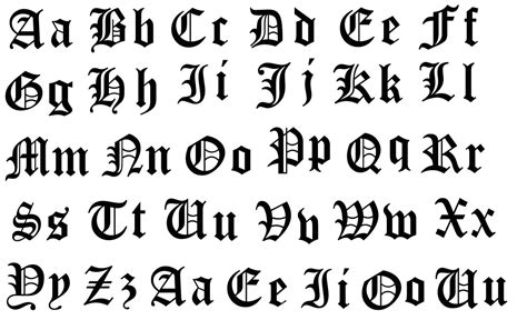 OLD ENGLISH FONT ALPHABET LARGE – Blooming Beautyz Boutique