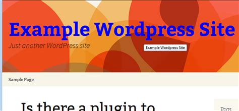 Change CSS Hover Effect of WordPress Title Without