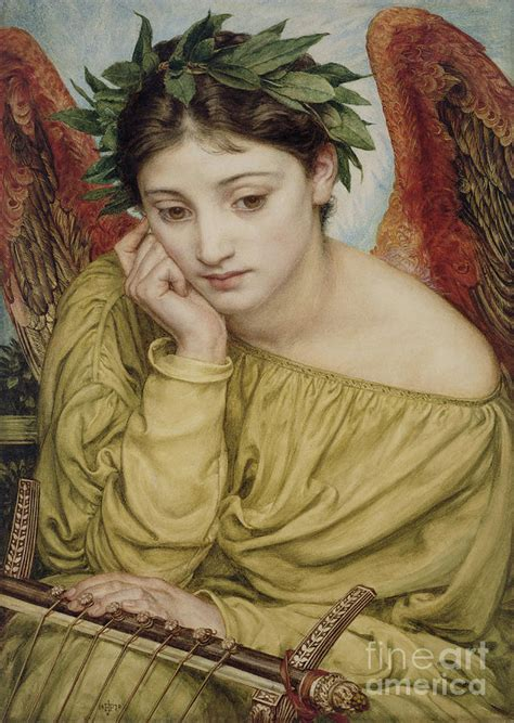 Erato Muse of Poetry 1870 Painting by Sir Edward John Poynter