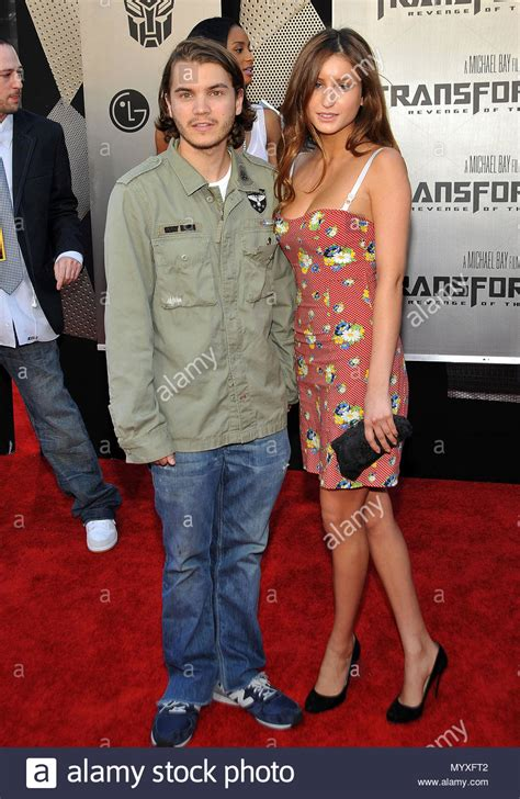 Emile Hirsch and wife - Transformers : Revenge Of The