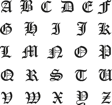 Free Old English Machine Embroidery Font Set – Daily
