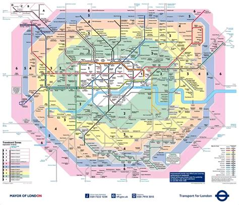 What are zones 1-6 in London? Moreover, are zones 3 and 4