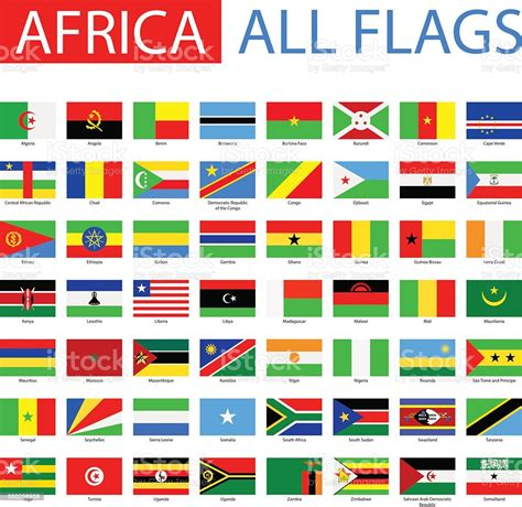 Flags Of Africa Full Vector Collection Stock Illustration