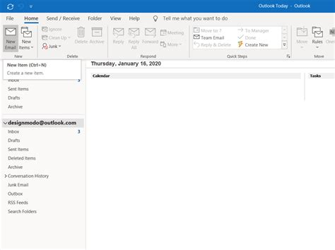 How to Send a Postcards Email Template with Outlook 365