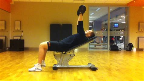 Dumbbell Incline Chest Press (45 Degree Angle) - YouTube