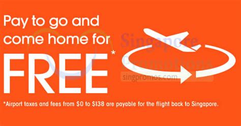 Jetstar Pay To Go, Return For FREE Promo Air Fares 17 – 21