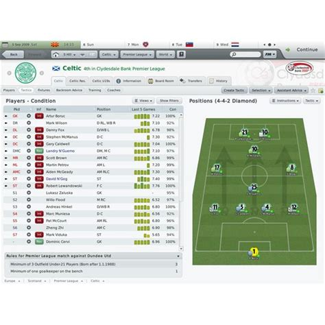 Football Manager 2010 Tactics Guide: Tips and Tricks for