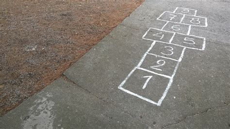 Free stock photo: Play, Chalk, Hop, Bouncy Game, Pay