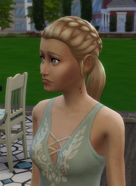 My sim being all in her feels after being bitten by a
